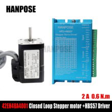 Stepper Motor Hybrid Step-servo motor 17HS8401 NEMA 17 2A 0.6N.m + HBS57 Closed Loop Servo Driver CNC Controller Kit 2 phase 6 8n m closed loop stepper servo motor driver kit 86j1895ec 1000 2hss86h cnc machine kit
