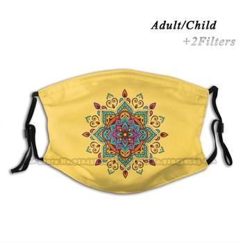 mandala style Colorful Flowers Mandala Pillows Anti Dust Filter Diy Print Washable Face Mask Mandala Mandala Bohemian Mandala Boho Mandala