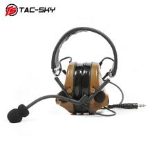 TAC-SKY tactical headset Comtac III silicone earmuff version noise reduction pickup Airsoft military shooting earmuffs - CB