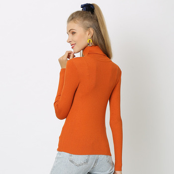 Duckwaver S~4XL Plus Size Women Sweaters Turtleneck Pullovers soft Primer Shirt  Long Sleeve Casual Slim-fit Knitted Sweater 6