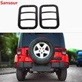 Sansour металлический автомобильный внешний задний противотуманный фонарь Крышка лампы защитные аксессуары для Jeep Wrangler JK 2007-2018 автомобильный ...