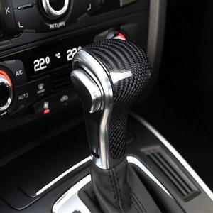 Image 5 - New Carbon Fiber Shift Knob Head Cover for Audi Old Models A4/A5/A6/A7/Q3/Q5/Q7 Gear Shifter Lever Stick