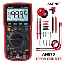 ANENG 870 kırmızı Dijital Multimetre 19999 sayımlar Arka AC/DC Ampermetre Voltmetre Ohm Timsah klip jumper tel testi kurşun