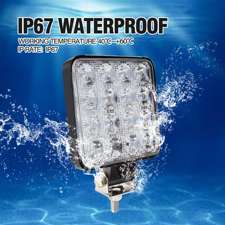 H144306dad5624a0ab62962a96de2e322l OKEEN 4inch 10cm 18W 27W 48W Offroad Car 4WD Truck Tractor Boat Trailer 4x4 SUV ATV 24V 12V Spot LED Light Bar LED Work Light