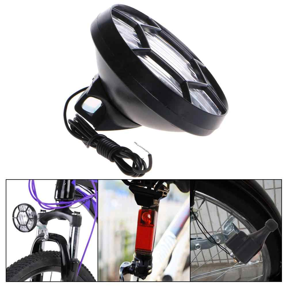 Friction Generator Head Tail Light Lamp For Bicycle Motorized Bike Cycle Safety