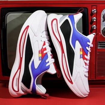 Damyuan nuove scarpe Casual in pelle da uomo di moda 2021 Sneakers uomo primavera autunno per scarpe da passeggio scarpe sportive da Tennis all'aperto 1