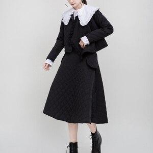 Image 2 - [Eam] 女性白プリーツスプリットジョイント気質ブラウス新ラペル長袖ルーズフィットシャツファッション春秋2020 1M942