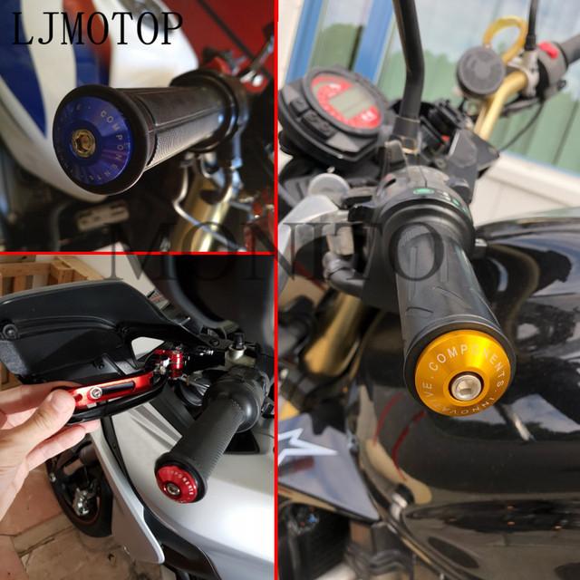 Universal Motorcycle Handle End Bar motocross Handlebar Grip Plug Cap For Yamaha VMAX VMAX 1700 VMAX 1200 NMAX 125 Tenere 700