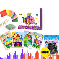 Creative rubbing paper painting Handmade material bag for children DIY Sticker toys Kindergarten gifts Sticky paper painting