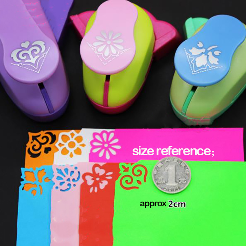 1pc Creative Paper Card Photo DIY Craft Flower Shape Corner Puncher, Business Paper Card Cutting Hole Punch Office Stationery