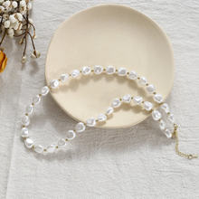 AOMU Korea High Quality Imitation Pearl Necklace 2019 Metal Beads Necklace for Women Fashion Charm Jewelry Gift(China)