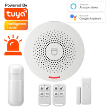 Tuya Smart Home Security Alarm System Hub Kit ,support Google and Alexa Host with sound function,,Smar Life App remote control