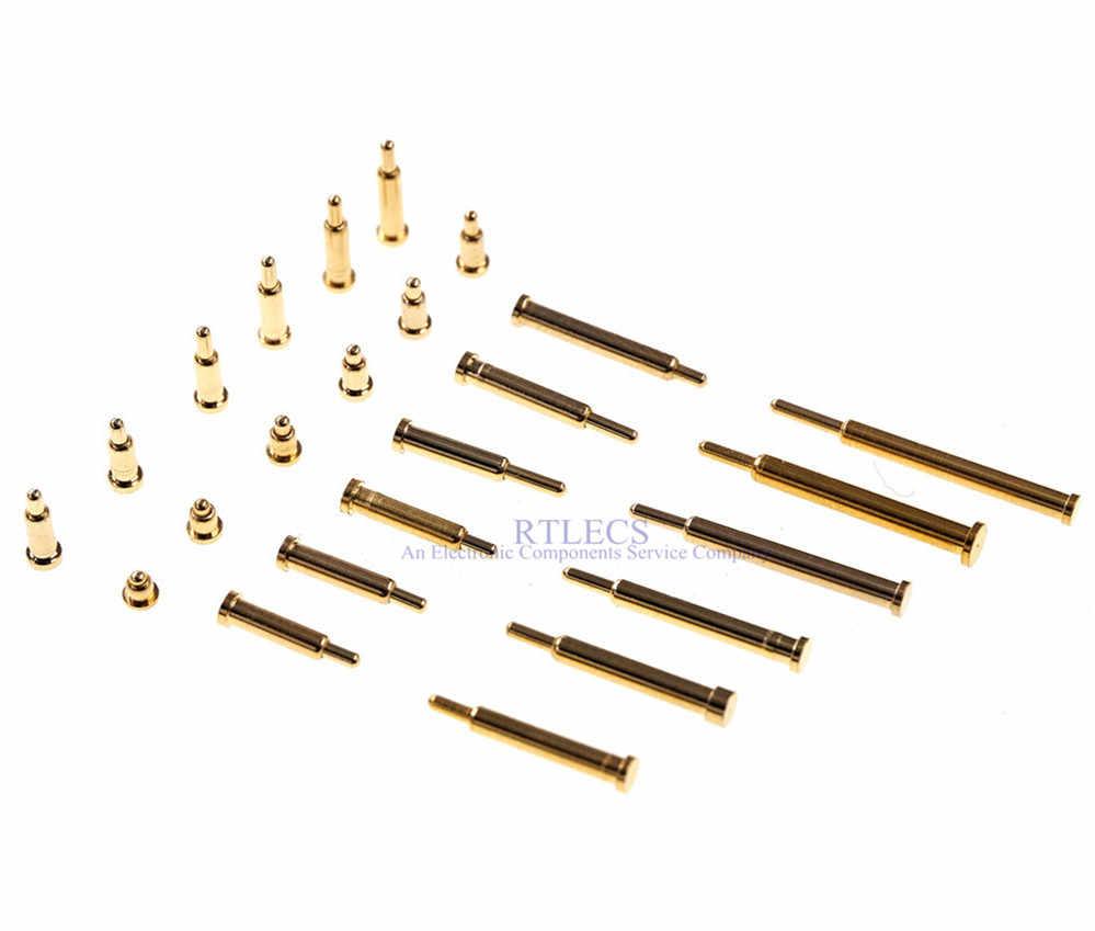10 pcs Pogo Pin Current ฤดูใบไม้ผลิโหลด Contact SMD เข็ม 2 3 4 5 6 7 8 9 10 test Probes Gold - plated co