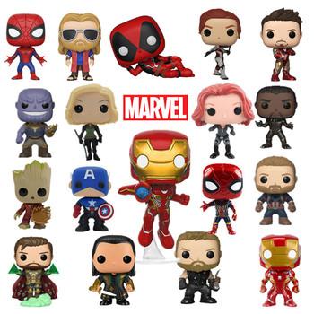 Nowy 10CM Marvel Avengers czarna wdowa figurka SpiderMan kapitan ameryka Iron Man Hulk pcv figurki zabawki Model prezent dla dzieci tanie i dobre opinie Disney Adult Adolesce 4-6y 7-12y 12 + y CN (pochodzenie) Unisex no fire not for kid under 3 16*12*9cm PIERWSZA EDYCJA Wyroby gotowe