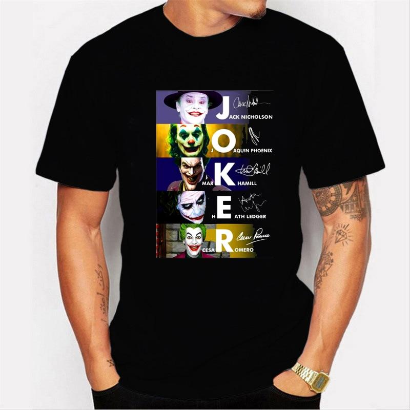 LettBao New Men t shirts Joker Joaquin Phoenix 2019 T Shirt Movies Inspired Jack Mark Heath Jokers Tee Black Friday T-Shirt