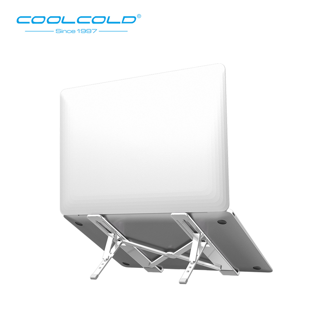 COOLCOLD Laptop Stand Height Adjustable Aluminum Laptop Riser Holder Portable Ergonomic Notebook to 17 inch for MacBook Air Pro 1
