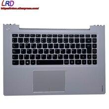 Backlit-Keyboard Lenovo Ideapad Laptop Spanish ES with Shell-C-Cover Palmrest Upper-Case