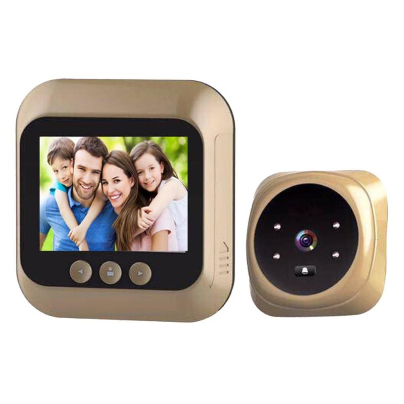 D3 2.4 Inch Electronic Door Eye Doorbell PIR Night Vision 3 Fold Digital Zoom Photo And Video 1.3MP 720P Video Cam