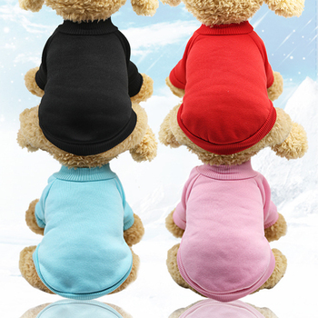 Fleece Dog clothes Winter Warm Puppy Dog Jacket Coat Soft Dog Shirts Pet Dog Costumes Dogs Sweater Clothing Dogs Yorkie Supplies image