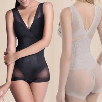 Lady Slimming Burn Fat Briefs Shapewear Tummy Slim Bodysuit Full Body Shaper Slimming Underwear Vest Bodysuits Jumpsuit L-XXL 1
