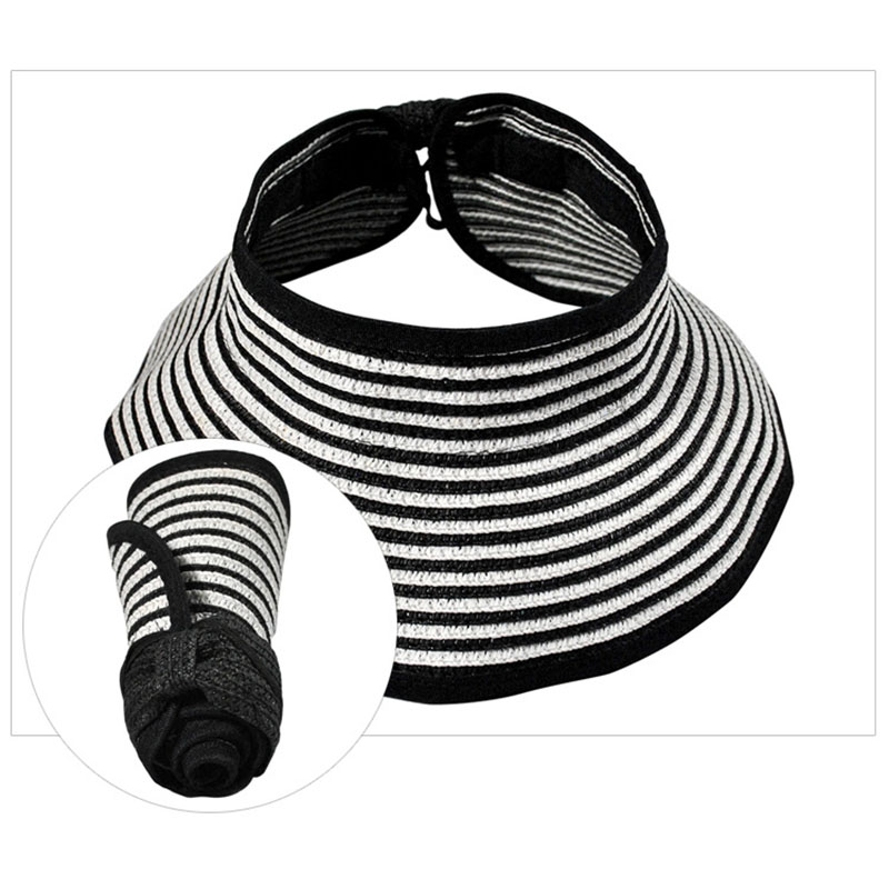 New Fashion Kids Girls Boys Hat Empty Top Wide Brim Striped Foldable Breathable Unisex Sunshade Hat Sombrero Mujer