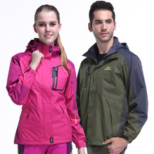 Couple single layer waterproof windbreaker mountaineering clothing soft shell clothing thin section outdoor sportswear