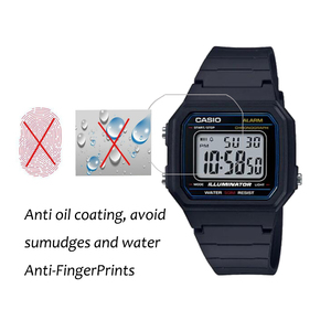 Image 3 - 3Pcs PET Nano Explosion proof Film For Casio W 217 W217 Smartwatch Screen Protector LCD Anti shock HD Clear Guard Film Not Glass