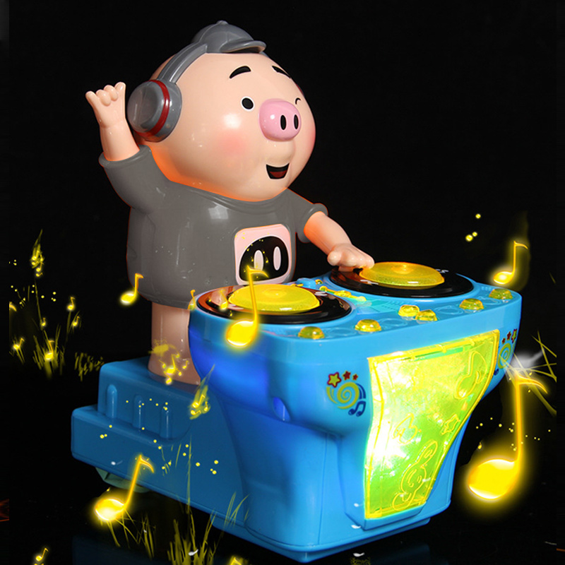 Hot Selling DJ Music Electric Pig Toys Electric Musical Toys Music Dancing Pig With Colorful Flashing Lights  LBV