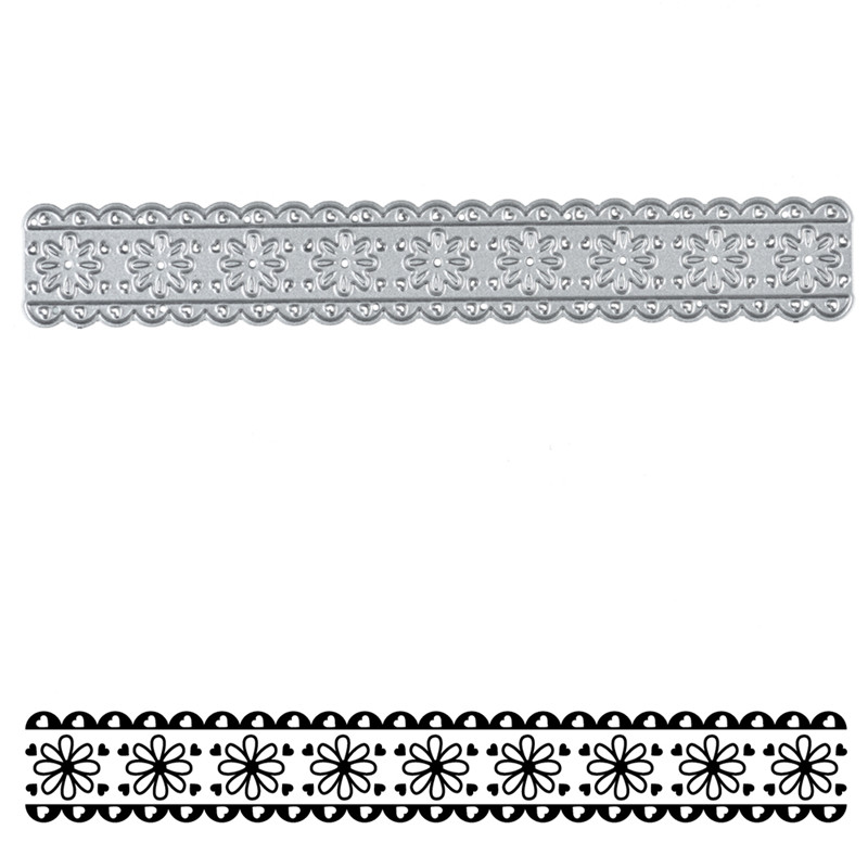 YaMinSanNiO Eight Petals Flower Lace Border Metal Cutting Dies New 2019 for Card Making Scrapbooking Embossing Craft Diecut