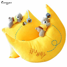 40cm 50cm Beautiful cloud Star Moon Pillow Plush Toy Doll funny pillow Children like holiday gifts Baby bear pillow