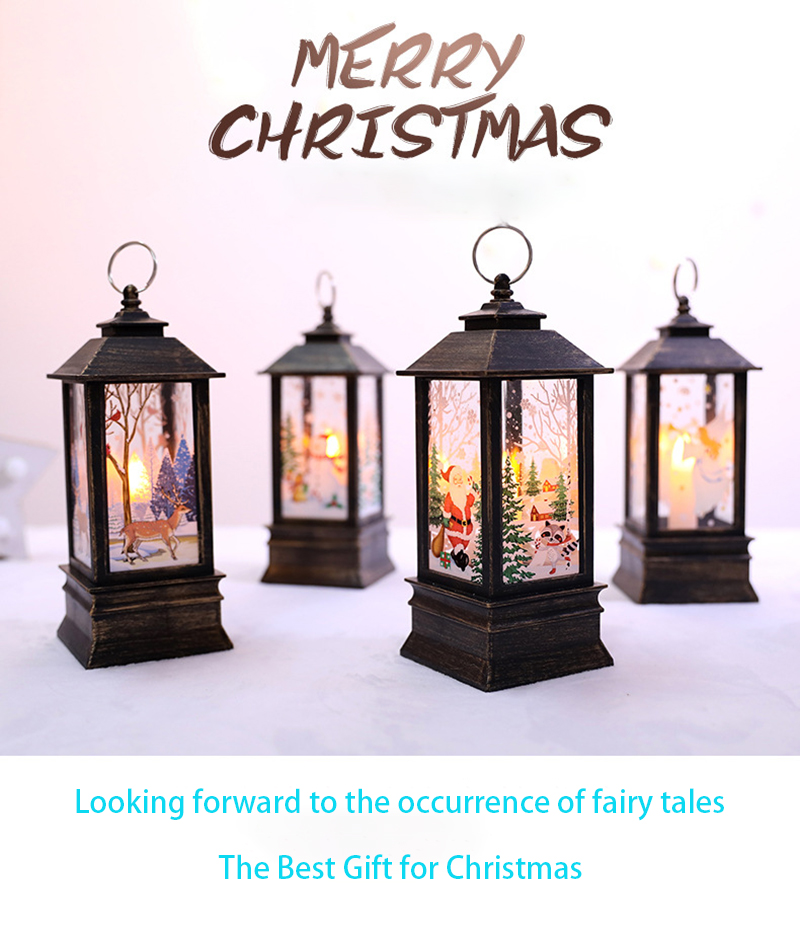 2020 LED Christmas  Christmas Tree Decoration Small Oil Lamp Holder Party Christmas Gift Home New Year Decoration
