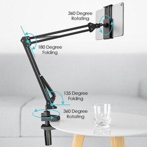 Image 2 - LINGCHEN evrensel yatak/masaüstü Tablet tutucu standı 360 derece dönen ayarlanabilir cep telefon tutucu iPad iPhone için 11 8 X XS