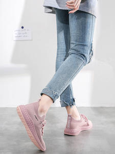 JSI Shoes Sneakers Lace-Up Comfortable Flat Fashion Women's Mesh Casual JY17 Round-Head