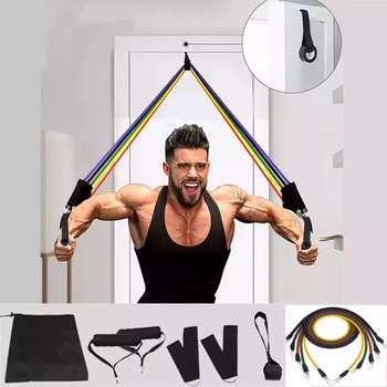Эспандеры канат для перетягивания спортивный комплект Эспандер для занятий йогой, упражнений, Фитнес резиновые трубки резинка для трениро...