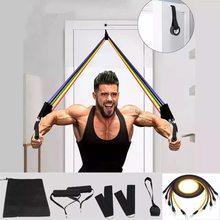 11 adet direnç bantları Set Fitness bantları direnci spor salonu ekipmanları egzersiz bantları çekme halatı spor elastik Trainingkout elastik