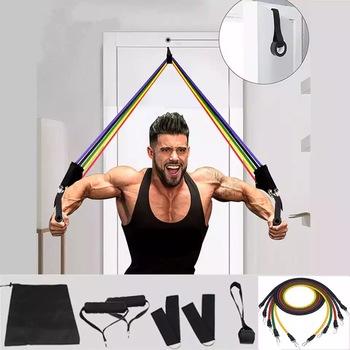 11 sztuk zestaw rurka lateksowa taśmy oporowe joga sprzęt do fitnessu ćwiczeń ciągnąć linę domu elastyczny tył mięśni trening siłowy tanie i dobre opinie Unisex CN (pochodzenie) Do kompleksowych ćwiczeń sprawnościowych lina do naciągania