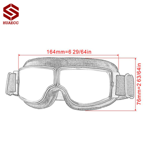 Image 5 - Motocross Goggles Vintage Pilot Roller Helm Brillen Outdoor Steampunk Motorrad Brille für Motorrad Dirt Bike