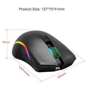 Image 2 - Zerodate novo TYPE C rato de carregamento rápido sem fio 2.4g colorido luz respiração preto adequado para computador portátil desktop