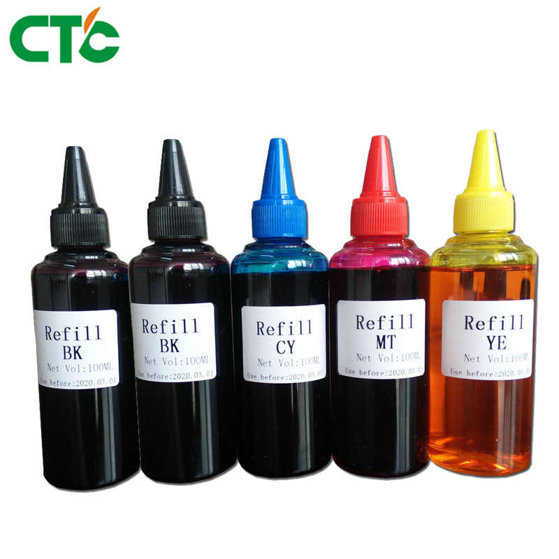 500 Ml Universal Tinta Isi Ulang Kit Untuk Epson Canon HP Saudara Lexmark Dell Kodak Inkjet Printer CISS Cartridge Tinta Printer berbasis Dye