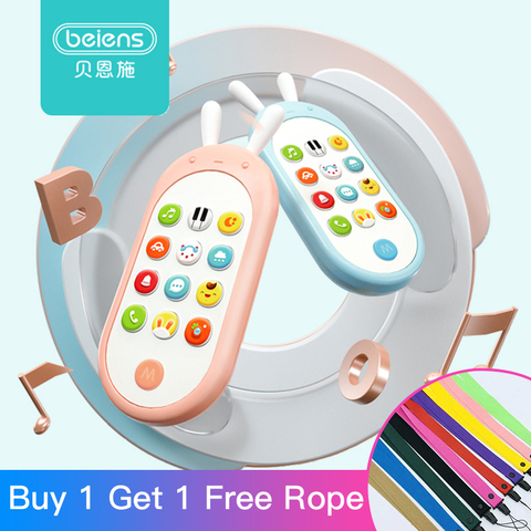 Beiens Baby Phone Toy Mobile Phone for Kids Telephone Toy Enfant Early Educational Mobile Toy Chinese/English Learning Machine Pakistan