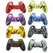 Anti-slip Camouflage Silicone Gel Skin Casing For PS4 Slim/Pro Accesories Cover Protective Case For PS4 Wireless Controller protective silicone sleeve case for ps4 controller white