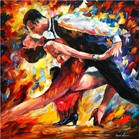 handmade oil painting knife oil painting dance canvas art Leonid Afremov artwork reproduction home decoration oil painting