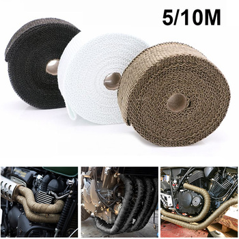 Motorcycle Exhaust Thermal Tape Moto Heat Shield Cover For HONDA CG 125 VARADERO XL1000 CBR250R WINDSCREEN CBR 1100XX CB 650R image