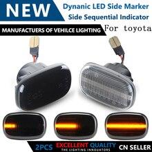 Последовательная мигалка, динамическая светящаяся боковая лампа, светильник поворотного сигнала для Toyota Corolla Carina Celicayaris Verso Vios Runx
