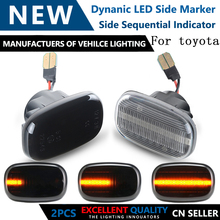 Sequential Blinker Lamp Dynamic Flowing Side Marker Turn Signal Light For Toyota Corolla Carina Celicayaris Verso Vios Runx