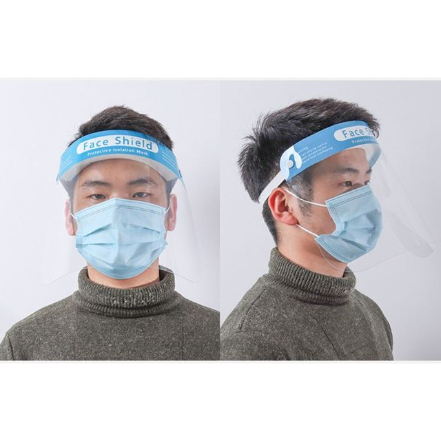 Transparent Protect Mask Protective Adjustable Anti-saliva Dust-proof Full Face Cover Mask Visor Shield Adjustable Face Mask 1