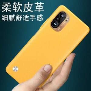 Image 2 - For Xiaomi Redmi K40 Pro Case Luxury Vegan leather Grain Skin Slim protective Back Cover Case For xiaomi redmi k40 k40pro shell