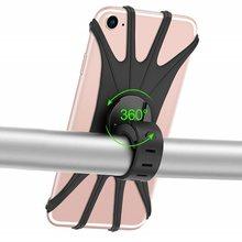Suporte do telefone da bicicleta do silicone motocicleta para o iphone 12 11 pro max 7 8 plus x xr xs suporte do telefone móvel bicicleta gps clipe de montagem rápida