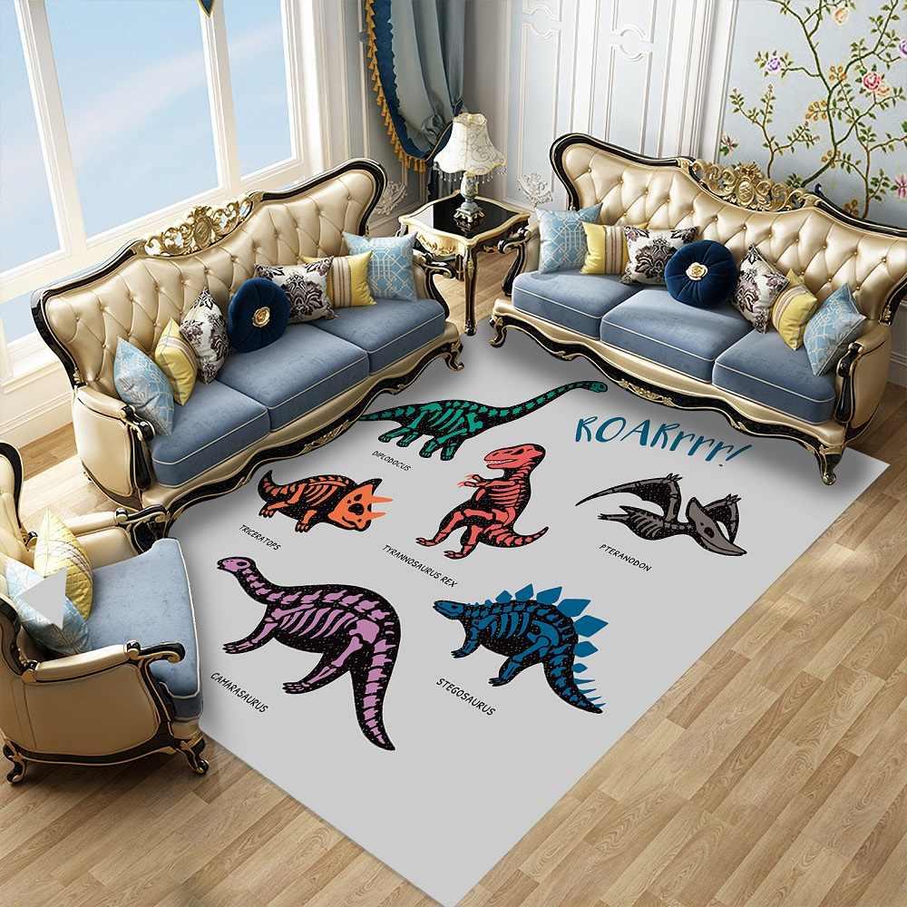 Benutzerdefinierte Dinosaurier 3d Druck Teppich Cartoon Tiere Kinder Schlafzimmer Dekor Boden Matten Hause Intrance Tur Matten Bathrooom Kuche Teppich Teppich Aliexpress