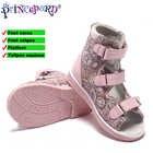 Princepard Новые Детские розовый в цветочек с принтом ортопедические Обувь дети Обувь для девочек Высококачественные босоножки с жесткой подош...